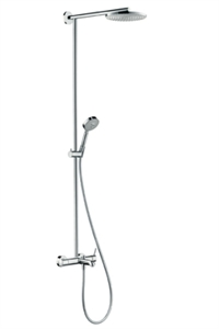 Picture of Showerpipe S 240 AIR single lever mixer for bath tub, with 460mm shower arm