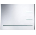 Picture of Radar bevelled mirror with 3 integrated  bevelled glass storage shelves Roper Rhodes