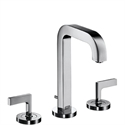Picture of 3 hole basin mixer with lever handles and short spout