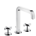 Picture of 3 hole basin mixer with cross head handles and long spout