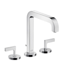Picture of 3 hole basin mixer with lever handles and long spout