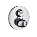 Picture of Ecostat start stop electronic thermostatic shower mixer for concealed installation