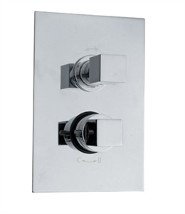 Picture of KUBIX Twin Concealed Thermostatic Shower Valve with Diverter