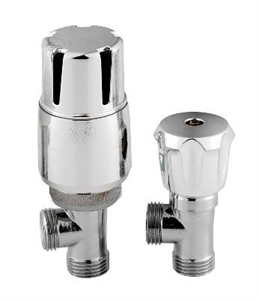 Picture of RADIATOR VALVES Angled Thermostatic Radiator Valve Pack