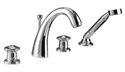 Picture of Imperial Gioiello 4 Hole bath filler and handset kit