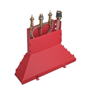 Picture of Basic set for 4 hole rim mounted bath mixer