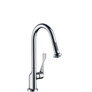 Picture of Single lever kitchen mixer with pullout spray