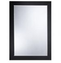 Picture of Eve Bevelled mirror with black glass frame Roper Rhodes