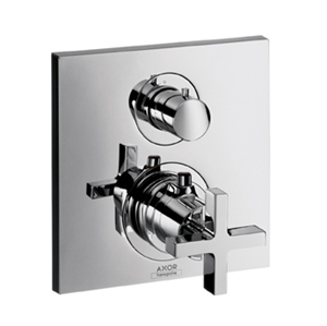 Picture of Thermostatic mixer for concealed installation with shut off and diverter valve and cross head handle