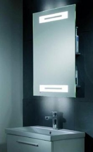 Picture of Radiance LED mirror with shaver socket and shelves Roper Rhodes