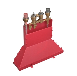 Picture of Concealed part for 4 hole thermostatic rim mounted bath mixer