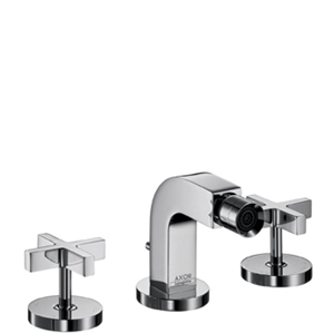 Picture of 3 hole bidet mixer with cross head handles