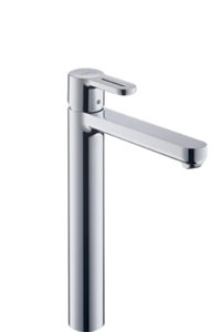 Picture of Single lever highriser basin mixer with 10mm connections for wash bowls with waste set