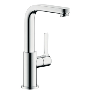 Picture of Single lever basin mixer with swivel spout and  waste set 3/8