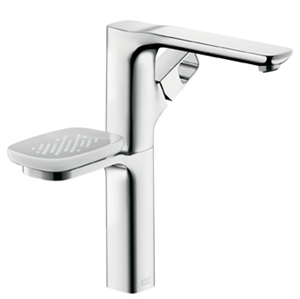 Picture of Single lever highriser basin mixer with waste set