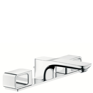 Picture of 3 hole basin mixer with plate