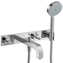 Picture of 3 hole bath mixer with lever handles and plate