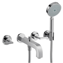 Picture of 3 hole bath mixer with lever handles