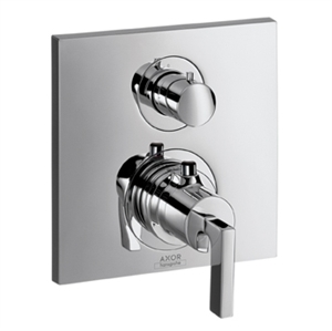Picture of Thermostatic mixer for concealed installation with shut off valve and lever handle
