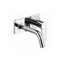 Picture of Single lever basin mixer with plate and short spout