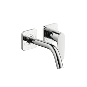 Picture of Single lever basin mixer with escutcheons and short spout