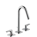Picture of 3 hole basin mixer with escutcheons