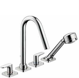 Picture of 4 hole tile mounted bath mixer