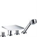 Picture of 4 hole tile mounted bath and shower mixer with lever handles