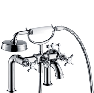 Picture of 2 handle rim mounted bath and shower mixer