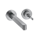 Picture of Single lever basin mixer with escutcheons and short spout with waste set