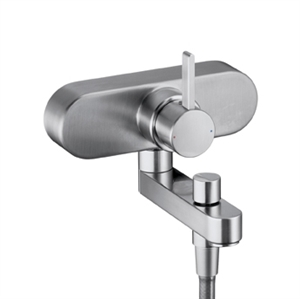 Picture of Single lever bath and shower mixer for exposed fitting
