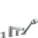 Picture of 4 hole tile mounted bath and shower mixer