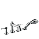 Picture of 4 hole rim mounted bath and shower mixer with lever handles