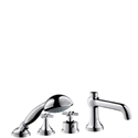 Picture of 4 hole thermostatic rim mounted bath and shower mixer