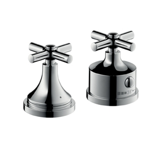 Picture of 2 hole thermostatic rim mounted bath mixer with cross head handles