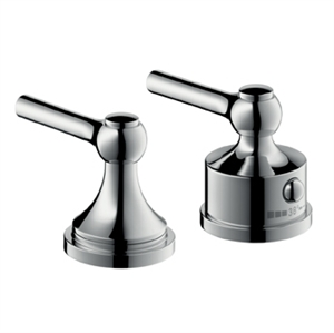 Picture of 2 hole thermostatic rim mounted bath mixer with lever handles
