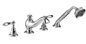 Picture of Imperial Vuelo 4 hole bath filler and handset kit