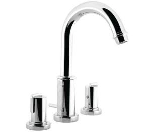 Picture of Imperial Crystal 3 hole basin mixer