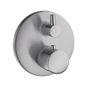 Picture of Thermostatic mixer for concealed installation with shut-off and diverter valve
