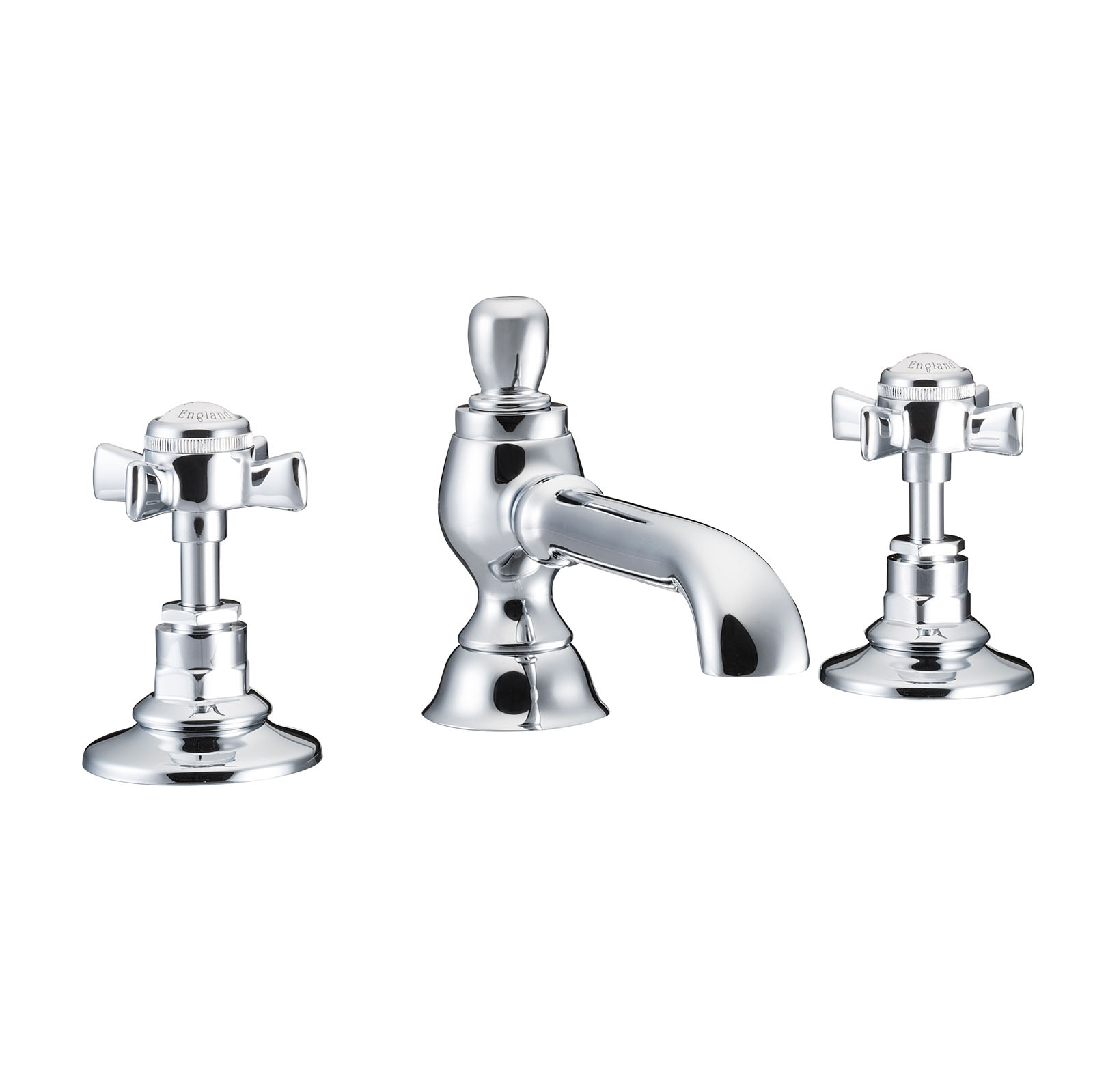 Picture of Three Hole Basin Mixer Colonial Spout
