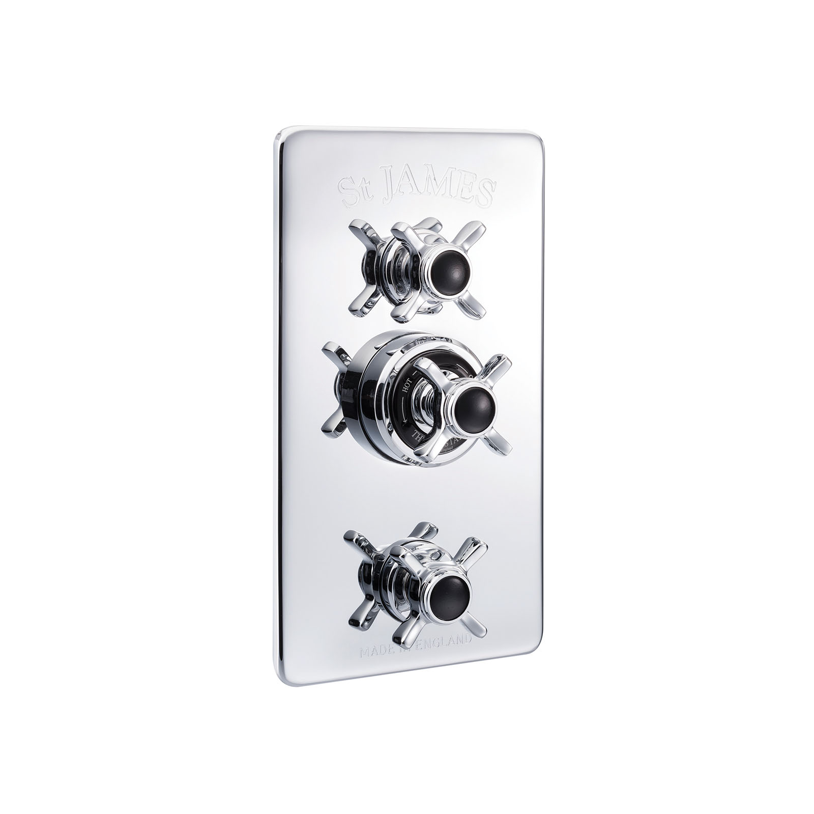 Picture of Concealed Thermostatic Shower Valve With 2 Function Diverter And Flow Valves